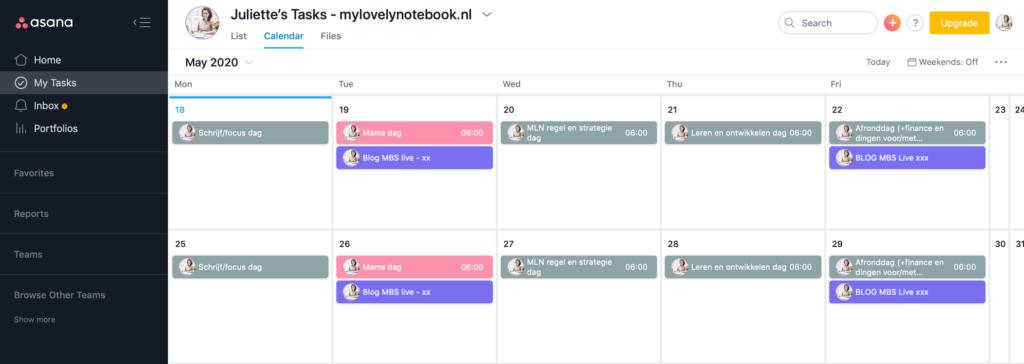 Asana: de handige online tool voor kalender