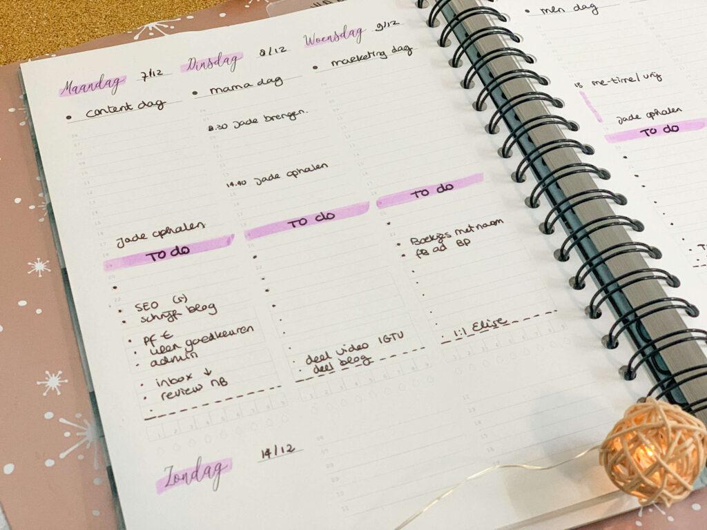Starten in de Balans planner